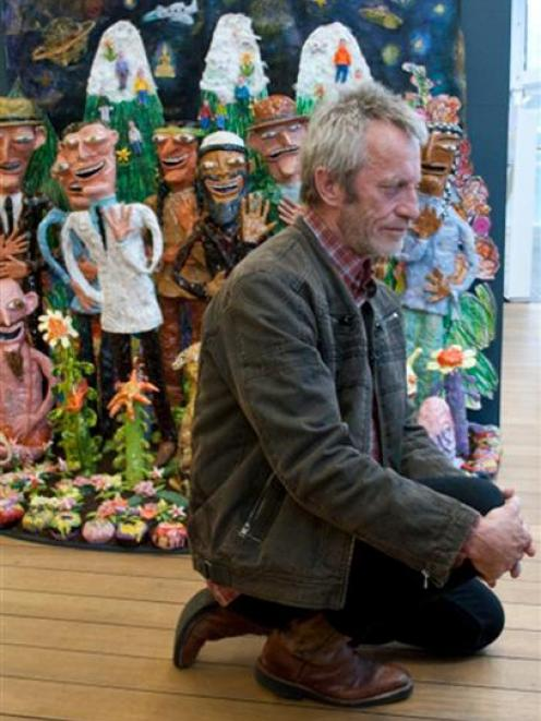 Dunedin ceramic artist Jim Cooper after being presented with New Zealand's supreme ceramic prize...