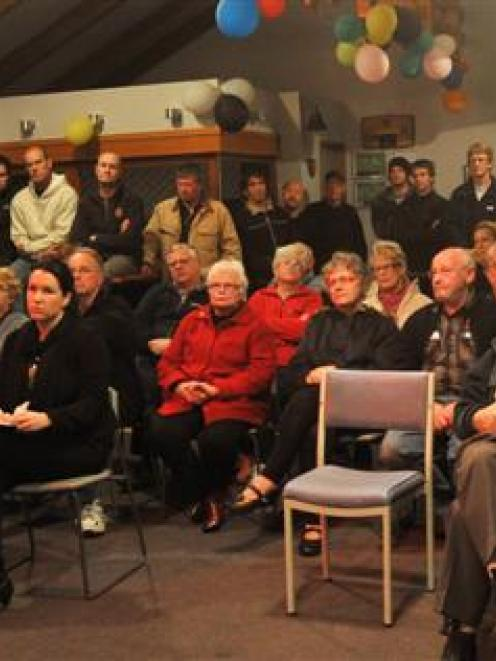 Dunedin City Council roading network engineer Peter Standring speaks at a public meeting in...
