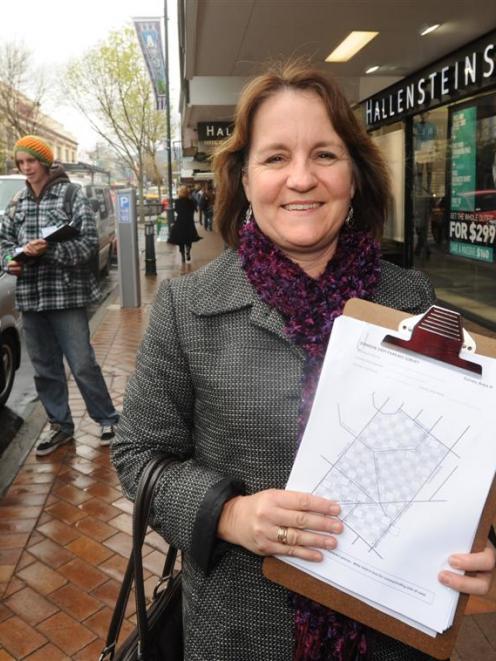 Dunedin City Council senior transportation planner Lisa Owens (foreground) led a survey of...