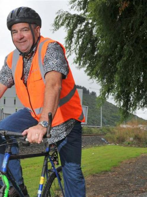 Dunedin City councillor Mike Lord on a new stretch of Dunedin's cycle/walkway network that will...