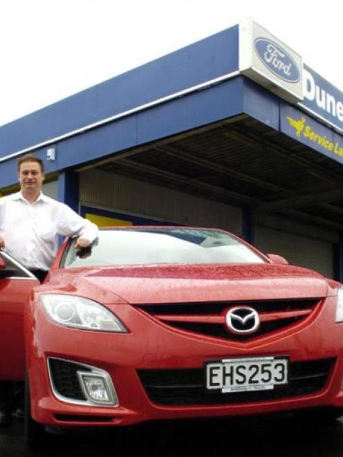 Dunedin City Ford chief executive Robert Bain on the site of the new Mazda dealership. Photo by...