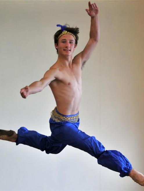 Dunedin dancer Bene Stewart  passed his Solo Seal exam with flying colours. Photo by Jane Dawber.