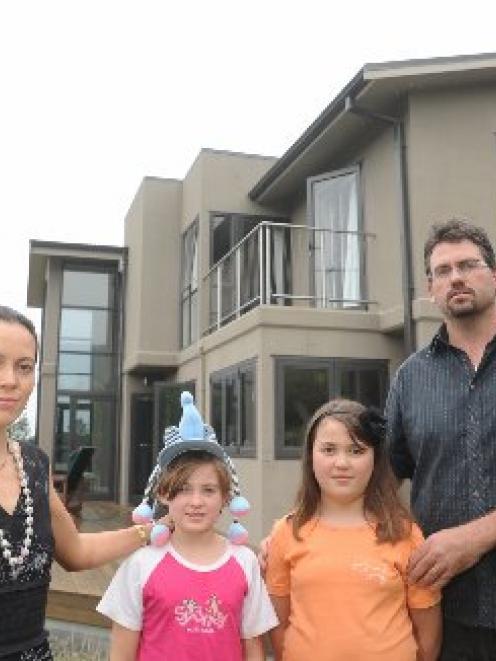 Dunedin family (from left) Deborah Wai Kapohe and Portia, Alyssa and Michael Beazley are watching...