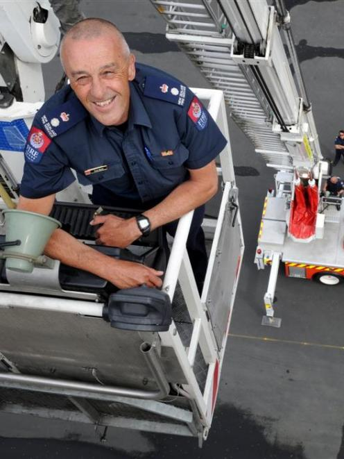 Dunedin Fire Chief Dave Seque is saying farewell to firefighting after 38 years' service. Photo...