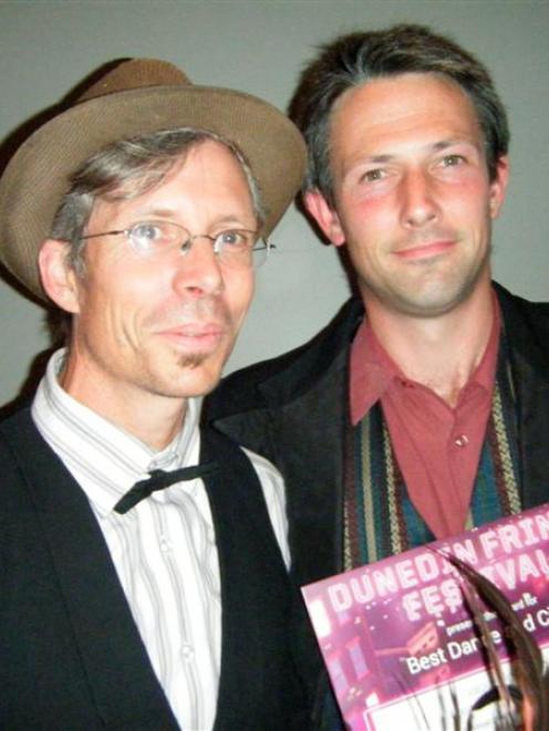Dunedin Fringe Festival director Paul Smith (left) with Vague de Cirque publicist Miguel Nitis at...