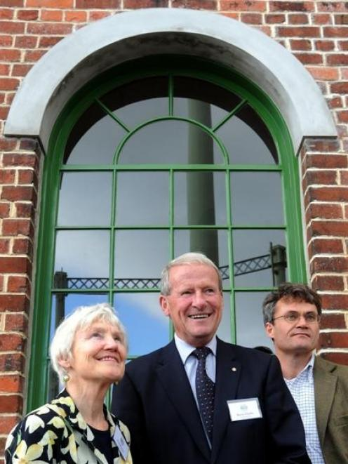 Dunedin Gasworks Museum Trust chairman Barry Clarke (centre) and trustees Ann Barsby and Peter...