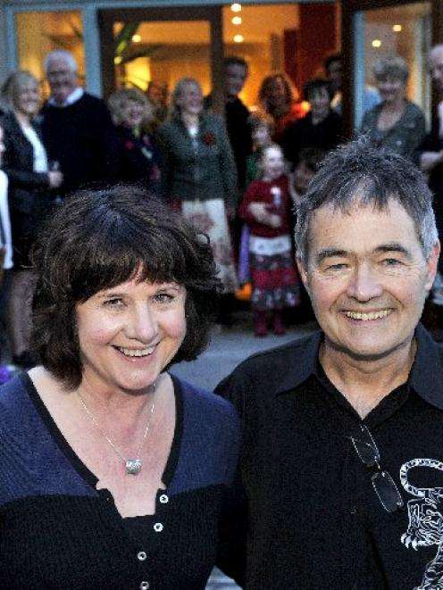 Dunedin Mayor-elect Dave Cull and wife Joan Wilson celebrate at home on the Otago Peninsula after...