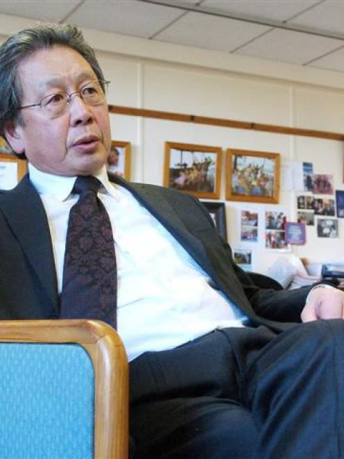Dunedin Mayor Peter Chin responds to the mounting disapproval of his council. Photo by Gerard O...
