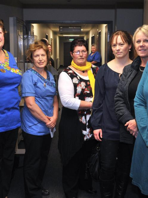 Dunedin nurses honoured at a Dunedin ceremony yesterday are (from left) Shirley Bell, Bec Flamank...