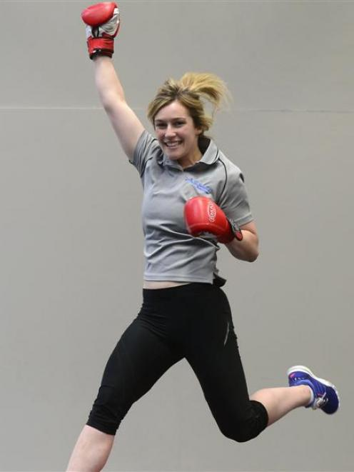 Dunedin personal trainer Alice Richards is over the moon about her win at the New Zealand Fitness...