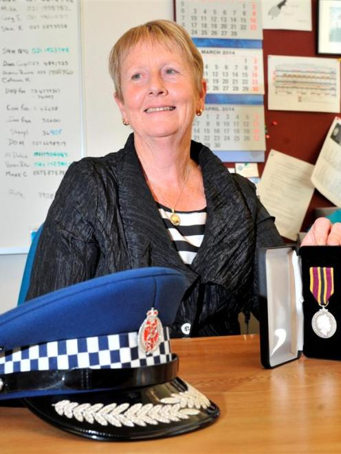 Dunedin police non-sworn staff member Anne Routledge with her New Zealand Police Meritorious...