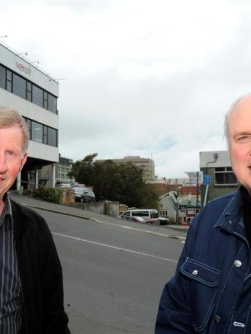Dunedin property developer Neil Lyons (left) and Dunedin architect Michael Ovens, who have...
