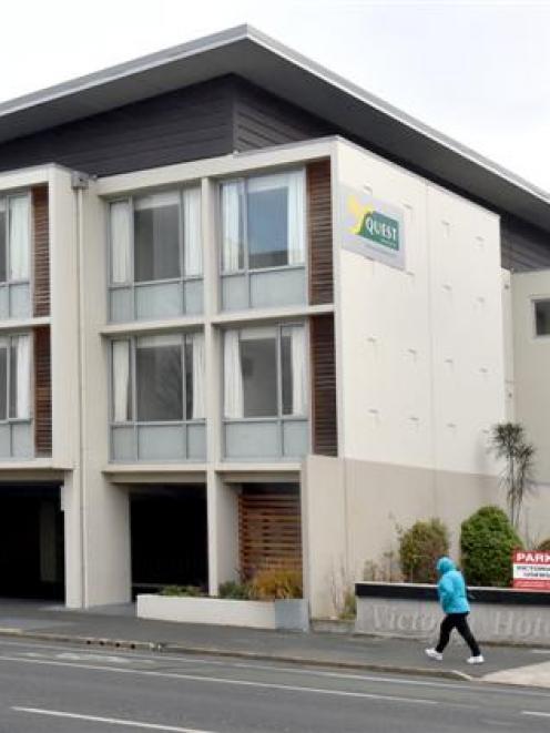 Dunedin's Quest apartment building. Photo by Gregor Richardson.