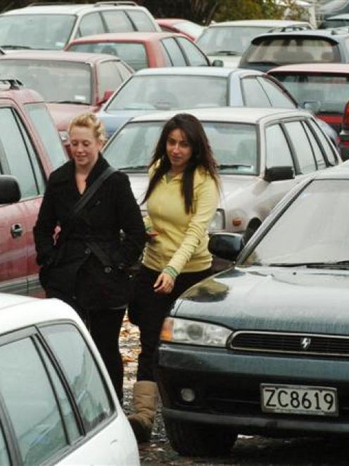 Dunedin students Samantha Wedlock and Yasmin Dabous are among hundreds of motorists who will be...