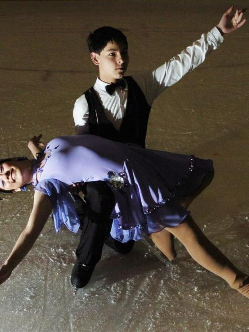 Dunedin twins Anne-Sophie and Dominic Shogimen demonstrate their winning ballroom style. Photo by...