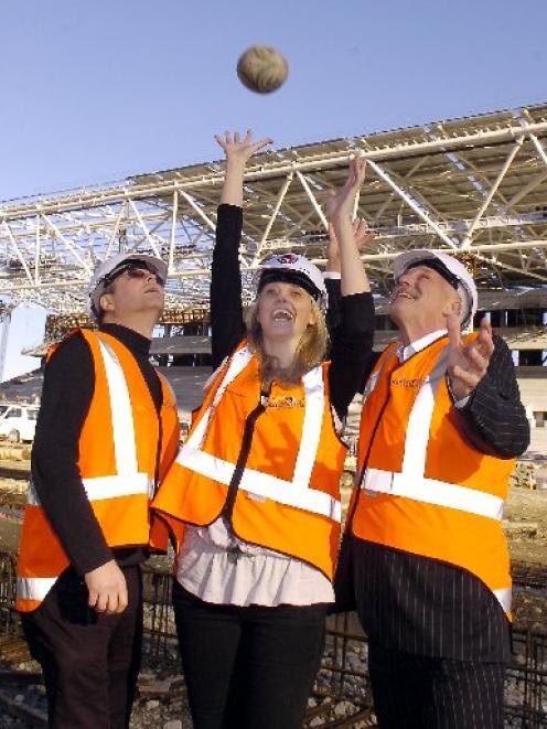 Dunedin Venues Management Ltd directors (from left) Peter Brown, Jennifer Rolfe and Peter...