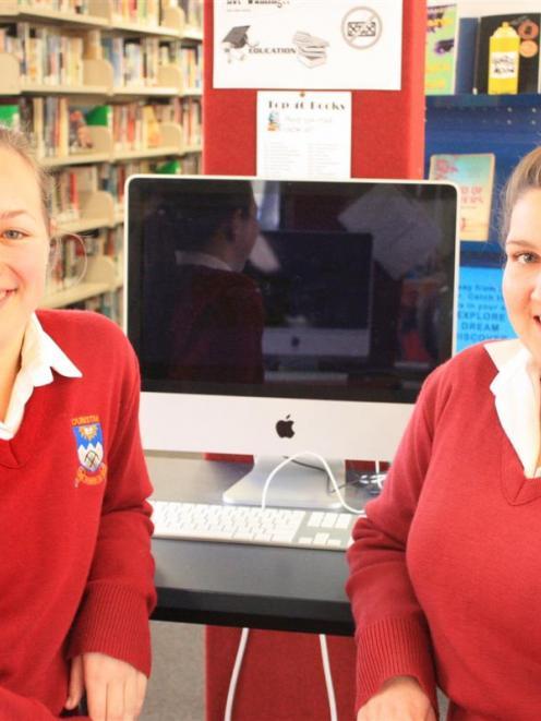 Dunstan High School pupils Nikki Wheeler (left) and Abby Withington (both 16) recently won awards...