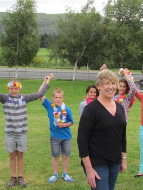 Duntroon School principal Bev Conlan spends her last day at school with year 8 pupils. Photo by...