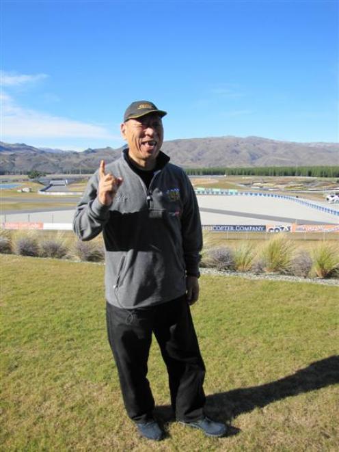 Eight-time winner and record-holder Nobuhiro ''Monster'' Tajima, of Tokyo, visits the Highlands...