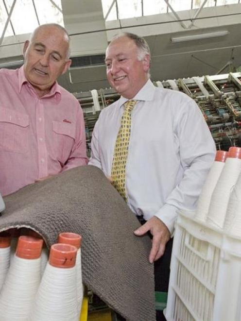 Elders Rural Holdings managing director Stuart Chapman and AgResearch manager of food and...