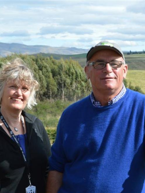 Ele and Grant Ludemann at their Onslow View farm at Millers Flat. Photo by Helena de Reus.