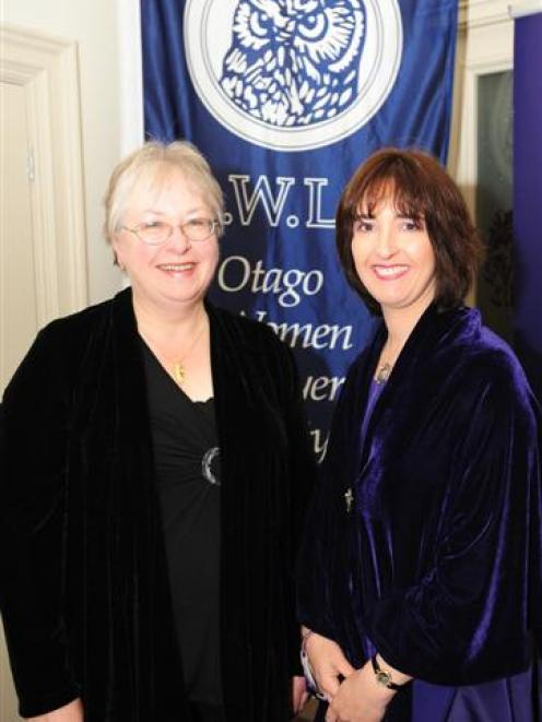Elinor Barker (left) and Debbie Ericsson celebrate the launch of the Marion Thomson Trust. Photo...