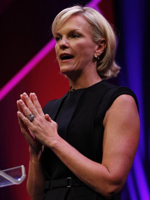 Elisabeth Murdoch rehearses her MacTaggart Lecture in which she took aim at her brother James...