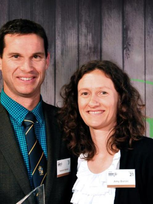 Emerging talent award winner Hamish Bielski and his wife Amy at the Beef and Lamb New Zealand...