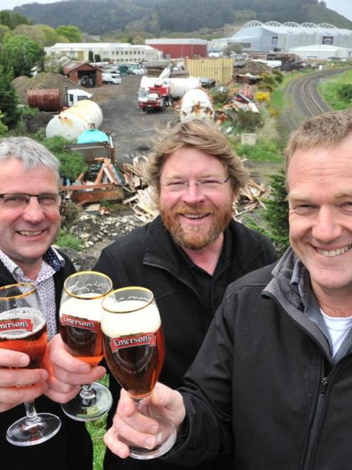 Emerson's Brewery general manager Bob King  (left), founder Richard Emerson (centre) and brewing...