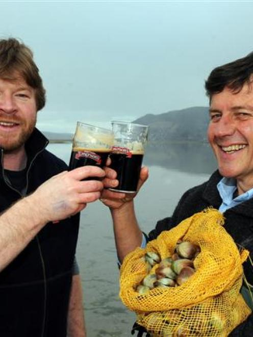 Emerson's Brewery managing director Richard Emerson (left) and Southern Clams managing director...