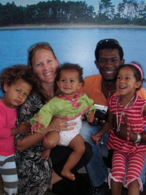 Emily Sanson-Rejouis and her family, three of whom dies in the Haiti earthquake.
