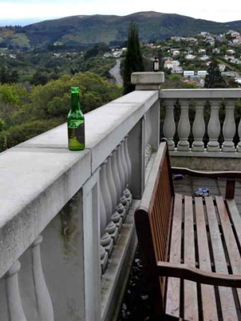 Empty bottles and cans litter the Mediterranean garden last weekend. Photos by Gerard O'Brien.
