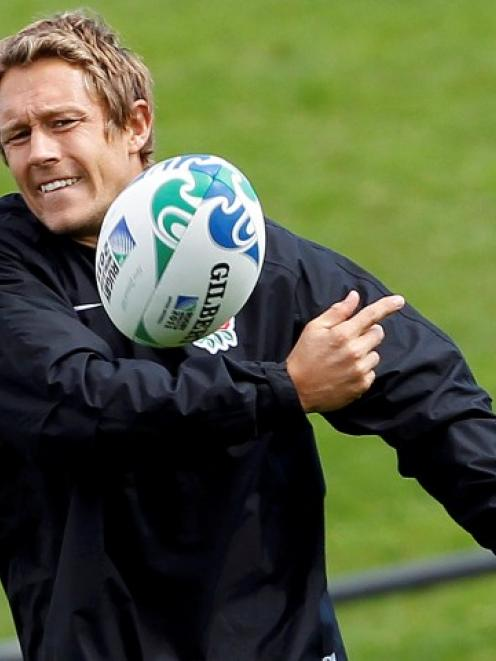 England's Jonny Wilkinson takes part in a training session in Auckland. Photo: REUTERS/Stefan...