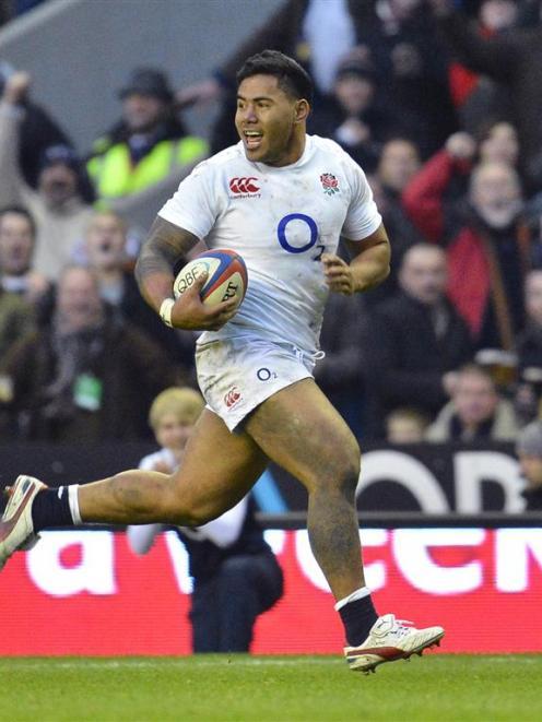 England's Manusamoa Tuilagi ran the All Blacks ragged. REUTERS/Toby Melville