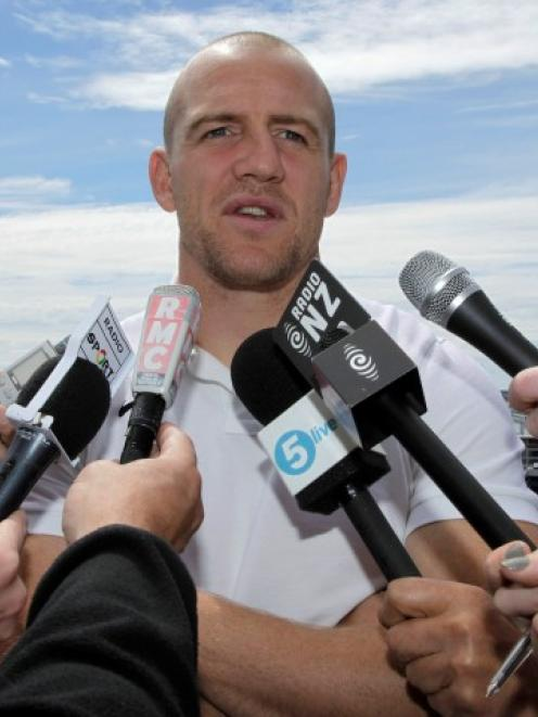 England's Mike Tindall speaks to journalists during a media session in Auckland. Photo:  REUTERS...