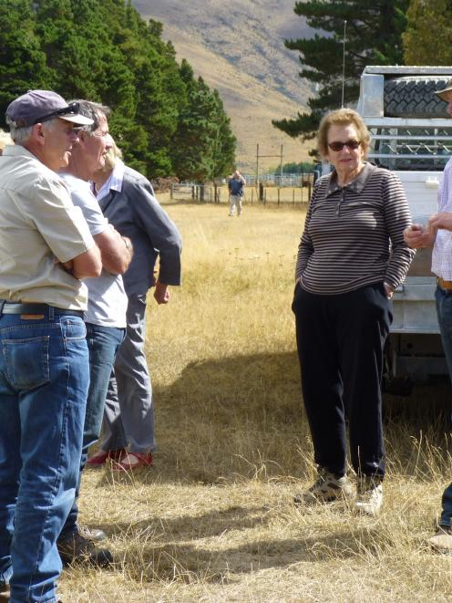 Environment Canterbury chairwoman of commissioners Dame Margaret Bazley and Federated Farmers...