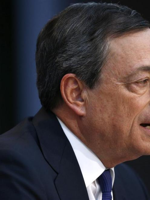 European Central Bank governor Mario Draghi kept the central bank's refinancing rate unchanged at...