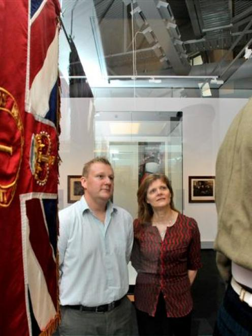 Exhibition developer Will McKee and National Museum of Scotland senior curator Elaine Edwards...
