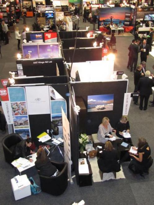 Exhibitors  hosted 15-minute appointments with travel buyers to secure lucrative business on...