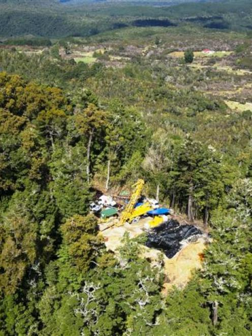 Exploration at Oceana Gold's Blackwater mine near Reefton on the West Coast (pictured in October)...