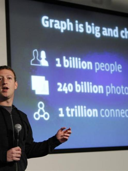 Facebook founder Mark Zuckerberg introduces a new feature to the world's most popular social...