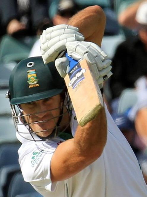 Faf du Plessis in recent action for South Africa against Australia. Photo Reuters