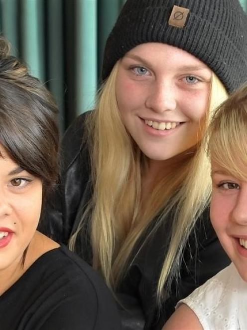 Farmhand training programme graduates Tara Astle (19), Rebecca O'Sullivan-Webb (17) and Emma...