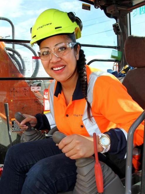Farrah Sipa's love of heavy machinery goes back to childhood.