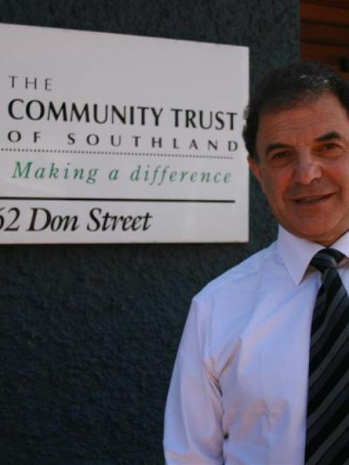 Malcolm Farry, of Carisbrook Stadium Trust, outside the Community Trust of Southland in Don St,...