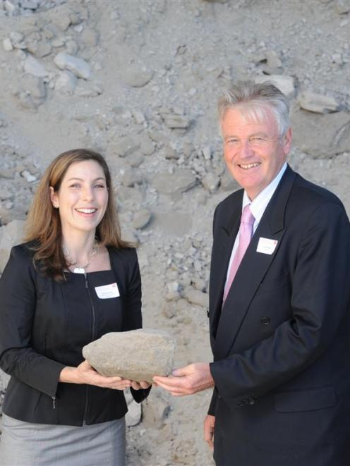 Featherston Resources chief executive Emma Weston and chairman Tim Goodacre at the Taieri plant...