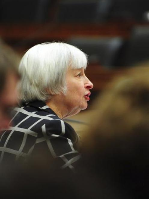 Federal Reserve chairwoman Janet Yellen gives her first testimony before Congress. Photo by Reuters.