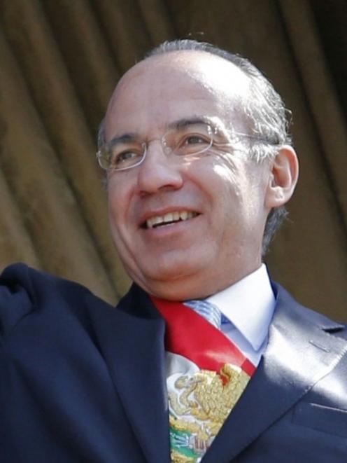 Felipe Calderon. Photo by Reuters