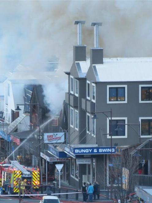 Fire at World Bar last May. Photo by James Beech.