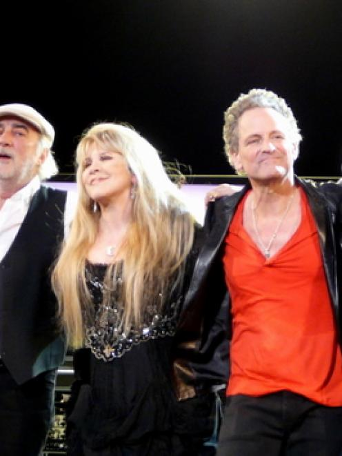 Fleetwood Mac, pictured in 2009. From left: John McVie, Stevie Nicks, Lindsey Buckingham and Mick...
